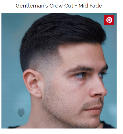 gentelmens crew cut with mid fade