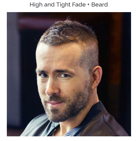 high and tight fade with beard