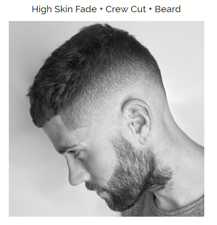high skin fade crew hut with bread