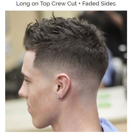 long on top crew cut with faded sides