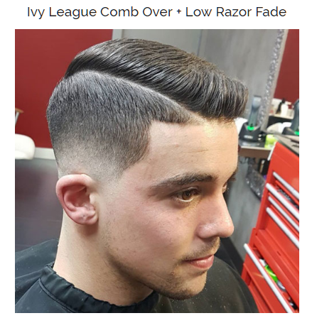 lvy league comb over with low razor fade