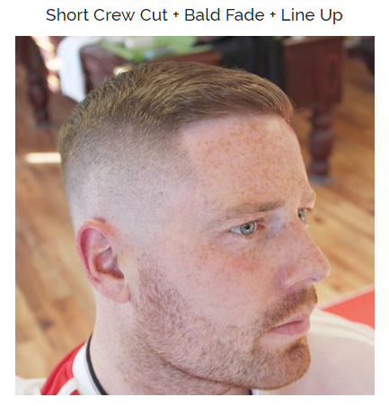 short crew cut with bald fade and line up