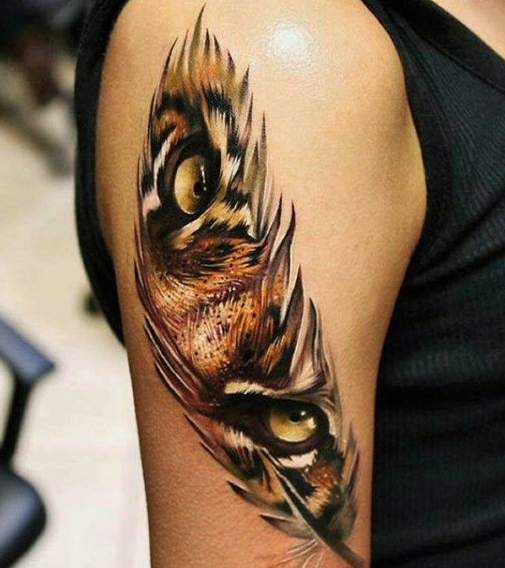 Feather Tattoo for Men