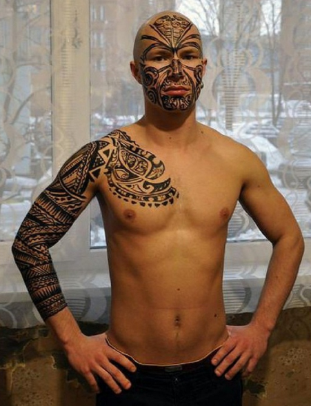 Maori Face Tattoos - Best Tribal Tattoo for Men