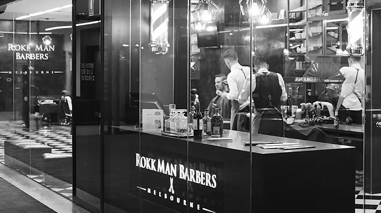 Rokk Mans Barbers barber shop in melbourne