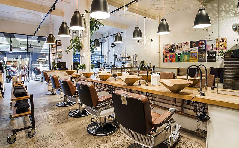 The Bearded Man barber shop in melbourne